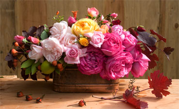 Rose-bouquet-centerpiece
