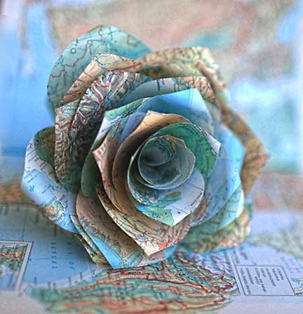 blogged images of her new map roses, with the most beautiful quotes.