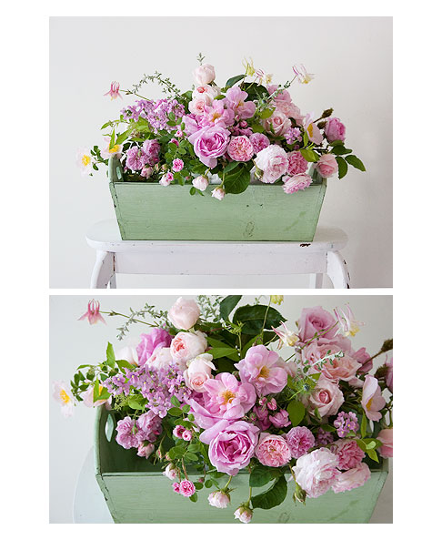 Pink-Roses-in-Green-Box
