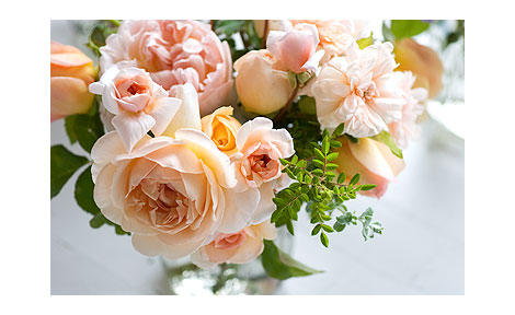 Peach-Rose-Boouquet