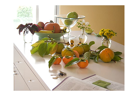 Persimmons-on-counter