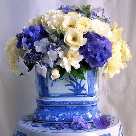 White-roses-blue-flowers