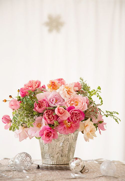 Pink-roses-in-mercury-glass