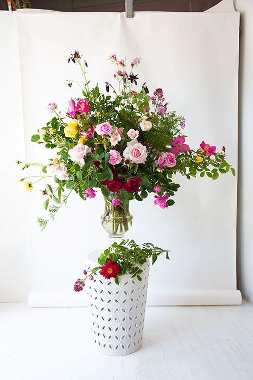 Rose-bouquet-photo-set-up