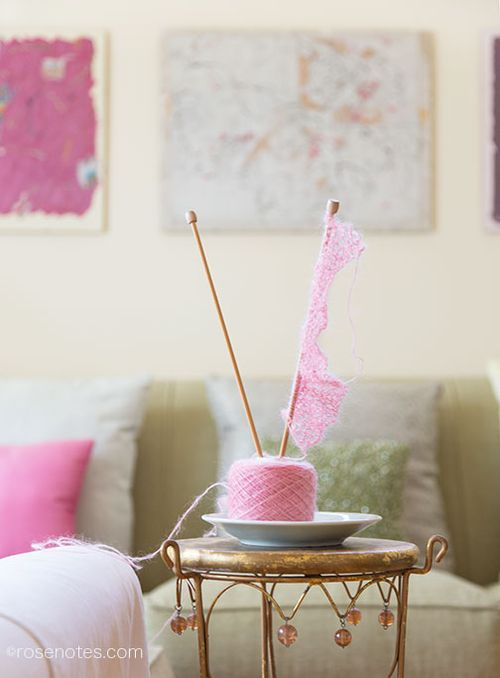 Pink-knitting-yarn