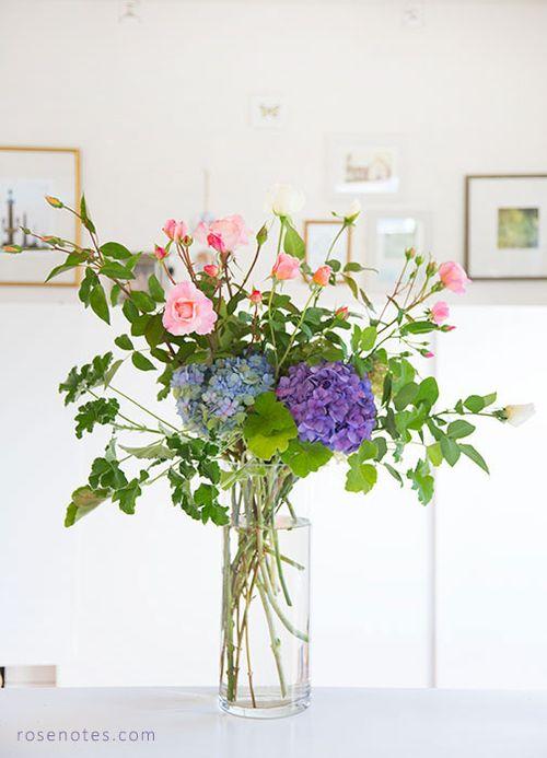 Hydrangea-rose-bouquet